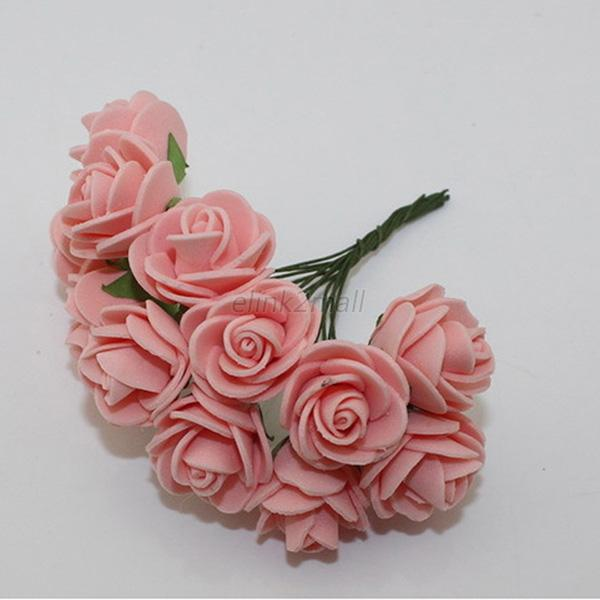 144Pcs Artificial Flower Foam Rose Wedding Home Party Indoor Party Decor
