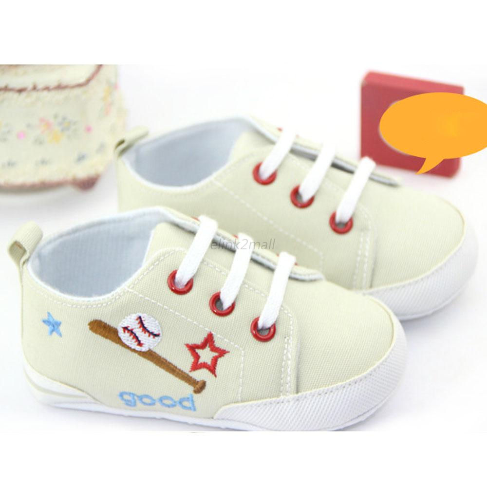 0-12M Toddlers Sneakers Baby Boy Girl Cotton Soft Sole Crib Shoes Prewalkers E93
