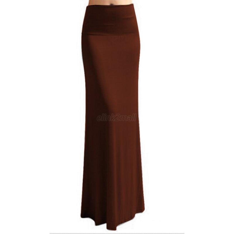 Amazing Womens Long Gypsy Maxi Skirts Ladies Stretch Full Length Skirt Dress S