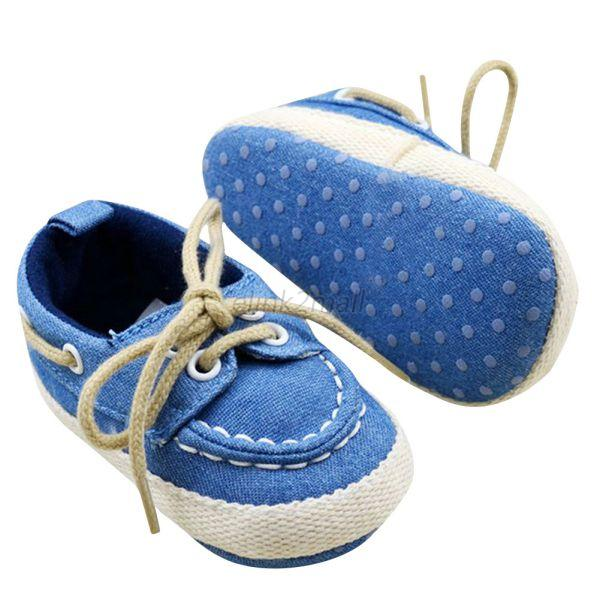 Infant sBaby Boys Girls Soft Soled Crib Shoes Toddler Shoes Size 0-18 Months E99