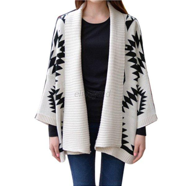 New Women Oversized Loose Knitted Sweater Long Sleeve Tops Cardigan Outwear  E53