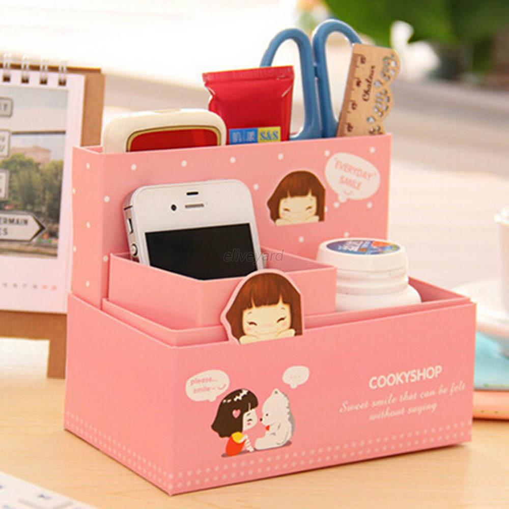 Stationery makeup cosmetic diy organizer cute cartoon - Cute desk organizer ...