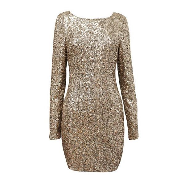 Sexy Women Sequins Dress Backless Bodycon Clubwear Party Cocktail Mini Dress E44