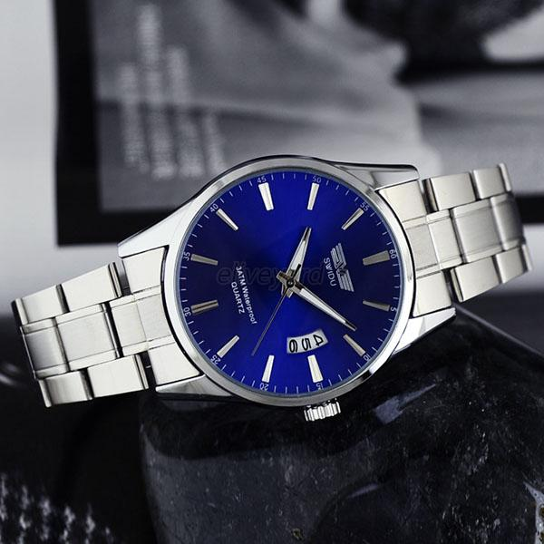 stainless steel band round casual adult watches
