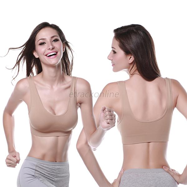 Women Sexy Seamless Crop Top Vest Yoga Fitness Sports Gym Bra Underwear 3 Colors
