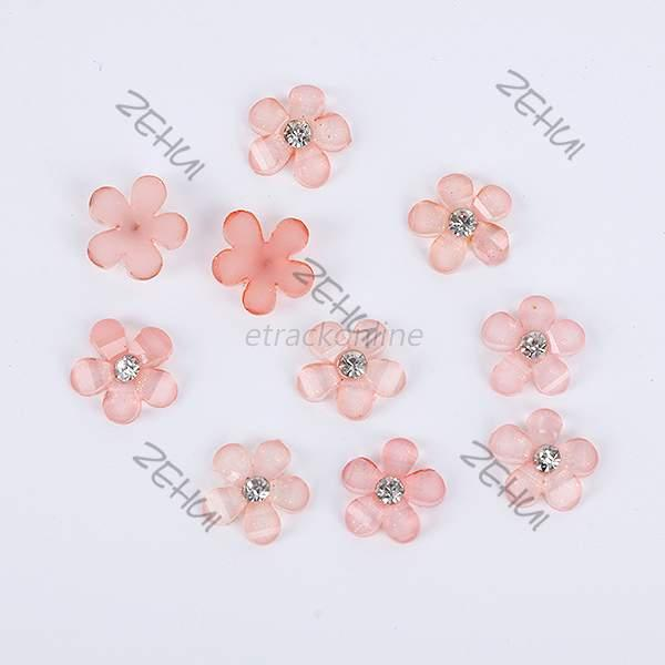20pcs 3D Bow Tie Rose Flower Rhinestone Charm Nail Art Manicure Decoration E93