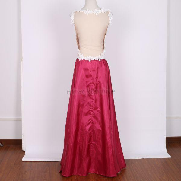 Women Bridesmaid Prom Gown Formal Evening Ball Cocktail Backless Long Dress E66