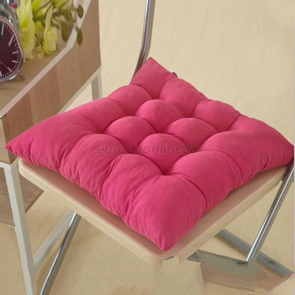 Nice 8 Colors Square Cotton Blend Soft Cotton Cover Pads Seat Chair Cushion New