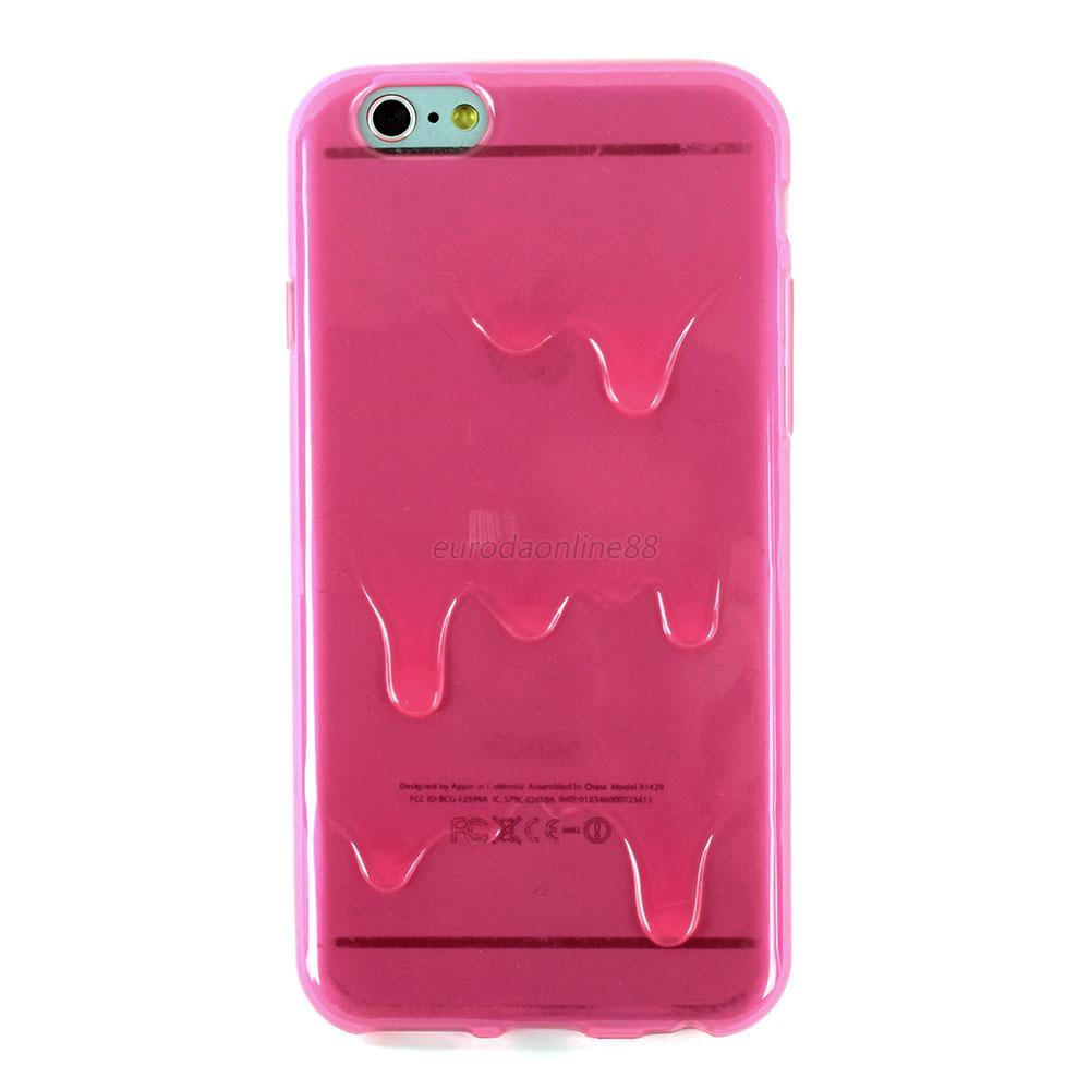 Transparent Soft TPU 3D Melt Ice-Cream Cover Case Skin For Apple iPhone 6 6G New
