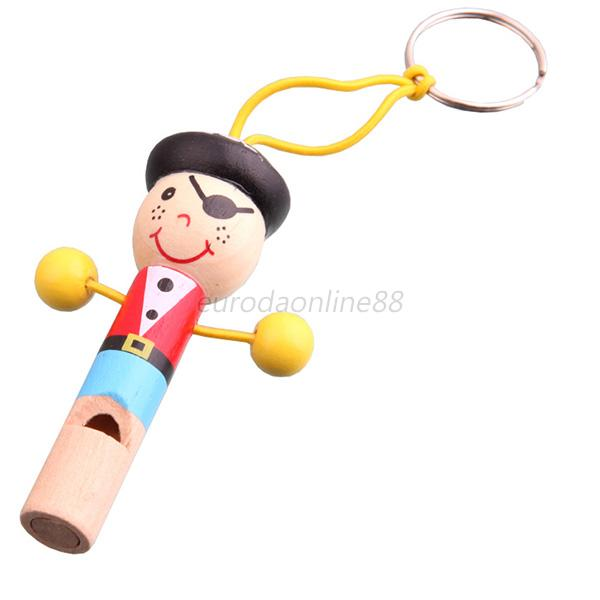 Cute Baby Kids Gift Wooden Toy Mini Whistle Pirates Developmental Musical Toys