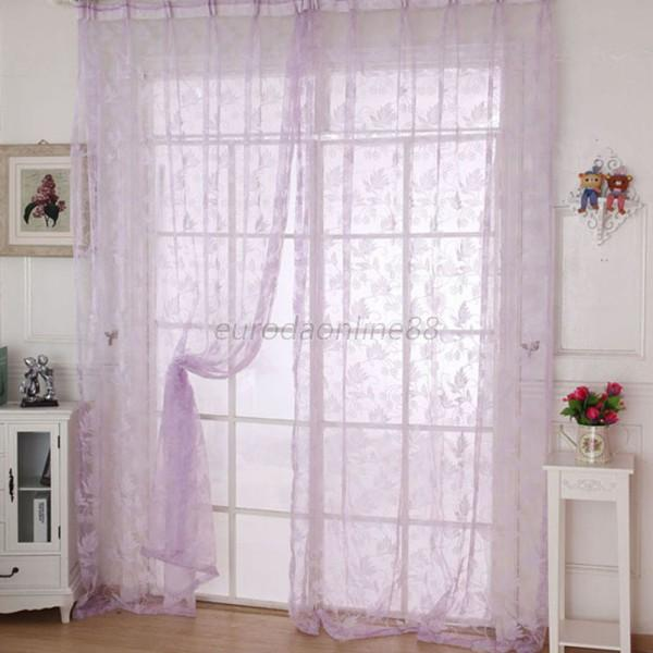 multi color assorted sheer curtains window room divider panel drapes