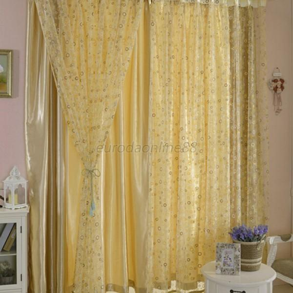 multi color modern tulle panel drapes room window curtain sheer voile