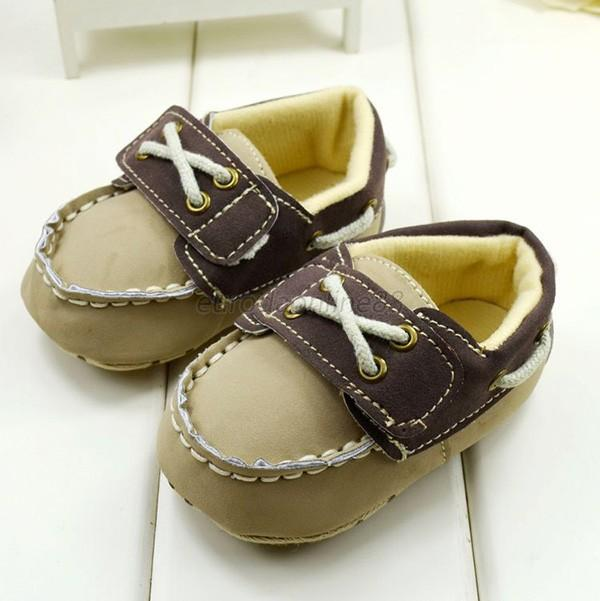 Infant Toddler Baby Boy Girl Soft Sole Crib Shoes Brown Casual Sneaker 0-18M