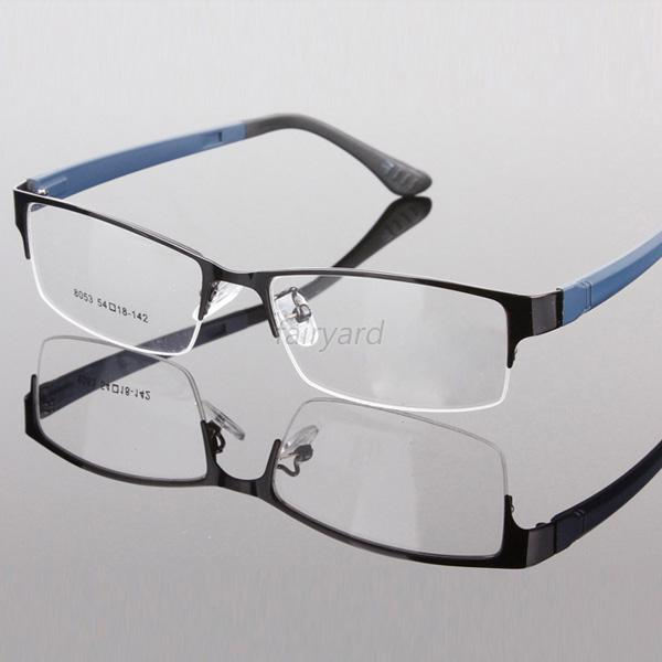 Gentry Men Eye Glasses Frame Metal Frame Half Rim Clear ...
