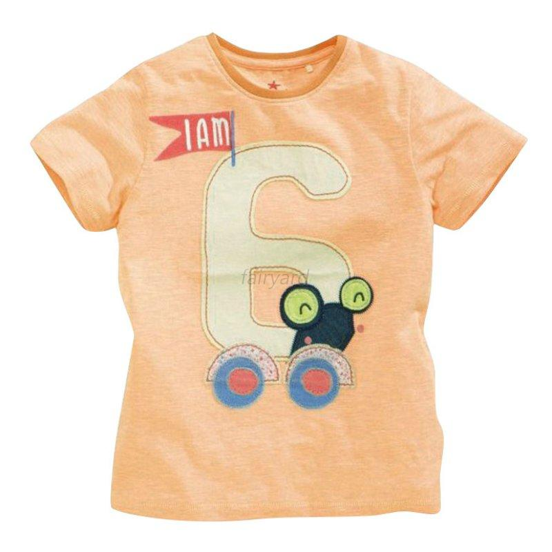 Cute kids boy arabic number printed cotton short sleeve for Toddler t shirt printing
