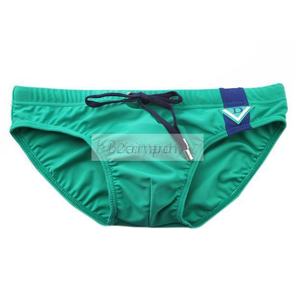 Men's Sexy Tie Rope Swim Briefs Beachwear Nylon Trunks Swimsuit M L XL 4 Colors