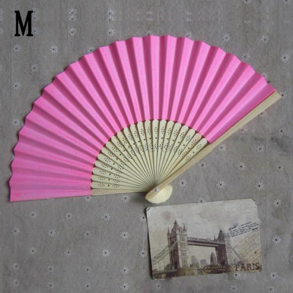 17 Colors Chinese Folding Bamboo Fan Retro Hand Paper Fans Wedding Party Favors