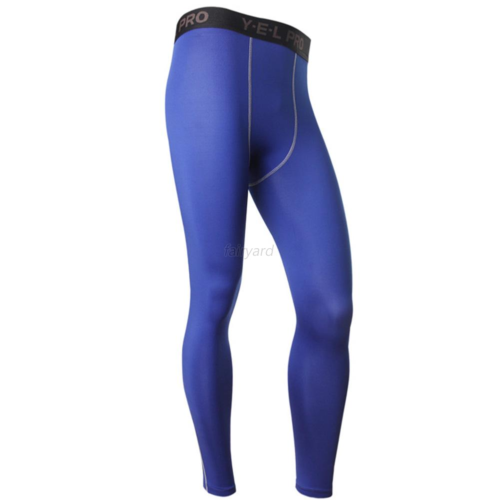 Men's Compression Long Pants Base Layer Tights For