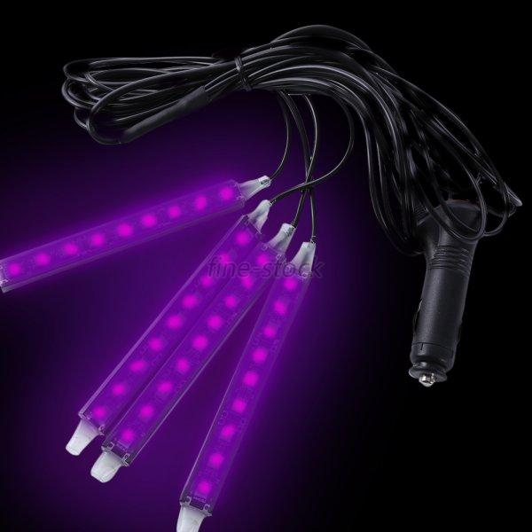 6 Color Led Strip Under Car Tube Underglow Underbody System Neon Lights Kit F47 Ebay