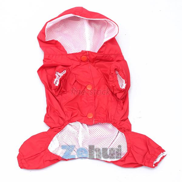 Fashion Puppy Dog Pets Hoody Waterproof Rain Coat Rain Jackets Pets Clothes