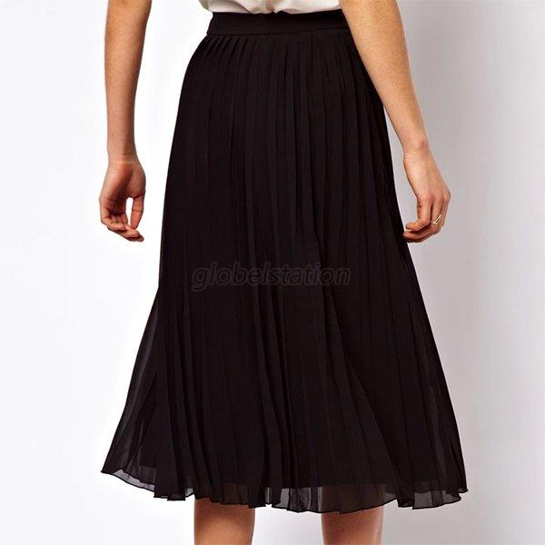 noble pleated below knee high quality chiffon maxi