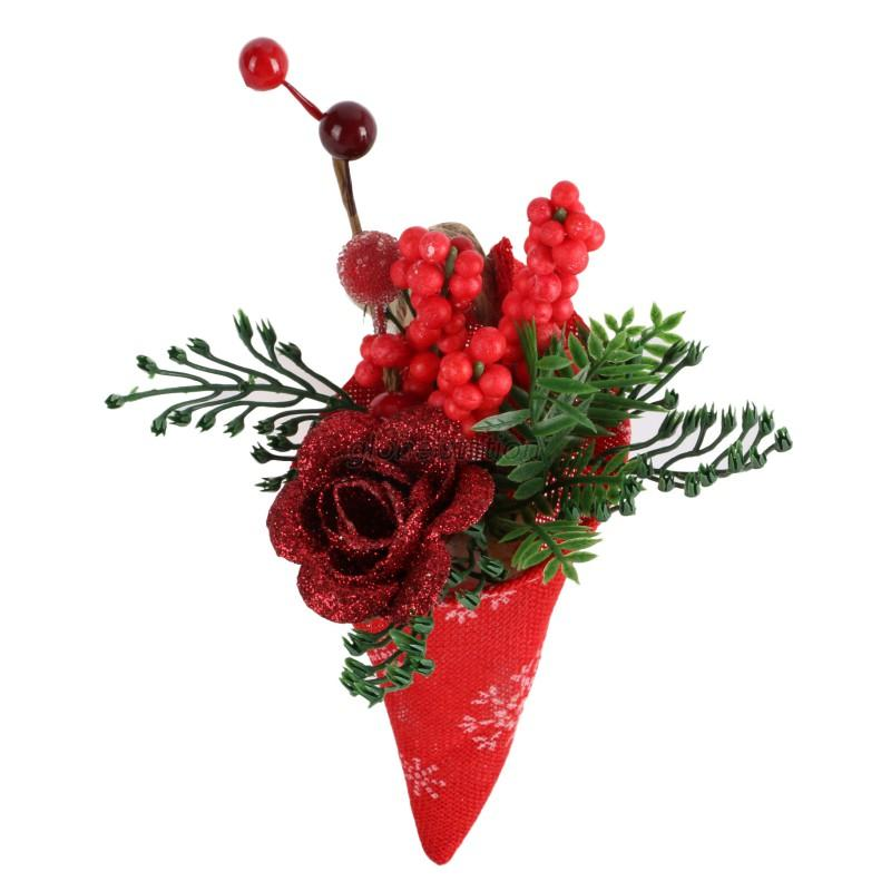 Artificial flowers christmas tree decoration party