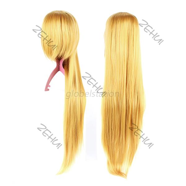 Cool Straight Long Hairpiece Anime Cosplay Party Dress Heat Resistant Full Wigs