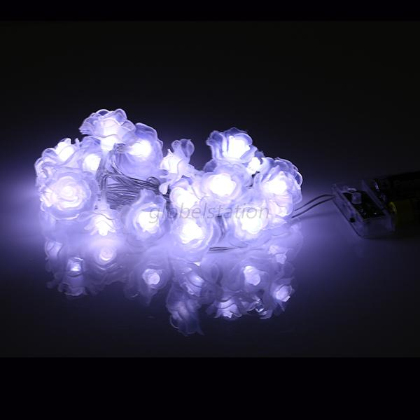 Led String Lights Bedroom : 20-LED Rose Flower Fairy Light Wedding Party Xmas String Battery Bedroom Decor eBay