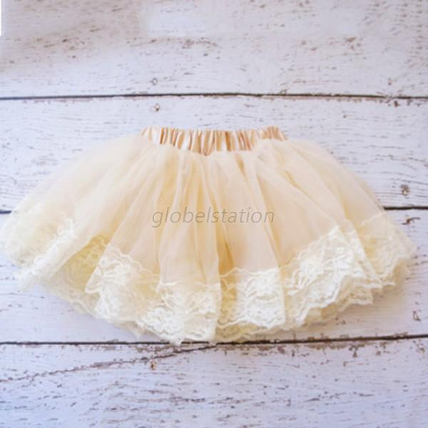 Cute Child Girls Multilayer Tulle Party Dance Dress Short Cake Tutu Skirt G49