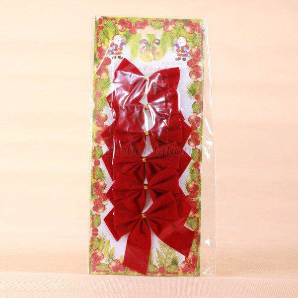 Christmas Tree Bows Decorations: Red Velvet Tie Christmas Tree Ribbon Satin Bows Hanging