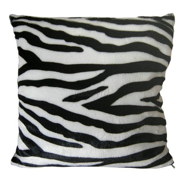 Animal Print Decorative Faux Fur Cushion Covers Bedroom Pillow Cover Case J79