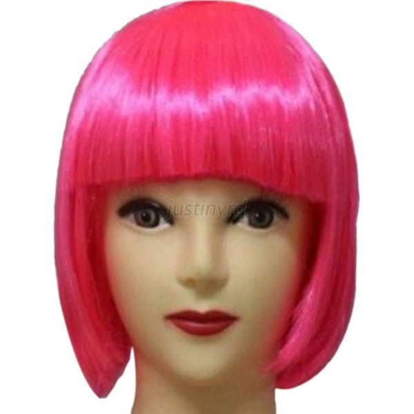 Trendy Women BOBO Cosplay Party Full Wigs Hair Full Bangs Short Straight Wig J96