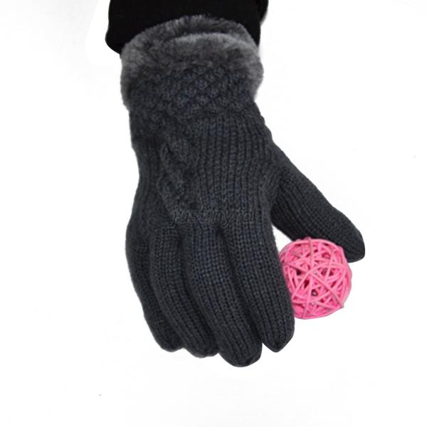 Knitting Pattern For Lined Mittens : Womens Faux Fur Knitted Mittens Gloves Lined Thermal Skiing Warm Winter Gift ...