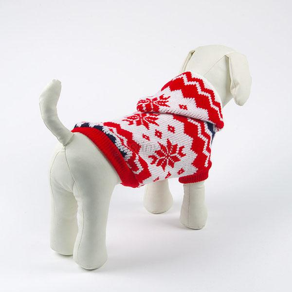 Hot Puppy Pet Dog Snowflake Pattern Knit Coats Warm Sweater Outwear Clothes J75
