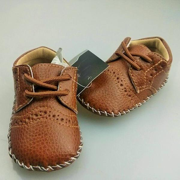 0-12M Baby Girls Boy PU Leather Crib Shoes Kids Soft Sole Loafers ...