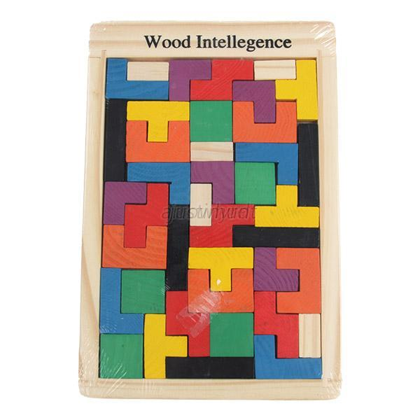Child Kid Wooden Puzzle Educational Toy Building Block Intellectual Toy Gift J75