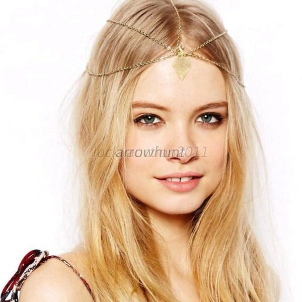 Charm Boho Crystal Rhinestone Head Chain Headband Headpiece Hair Band Headwear