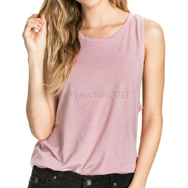 New Women's Sleeveless Blouse Loose Angel Wing Print Back T-Shirt Tops Dress L82