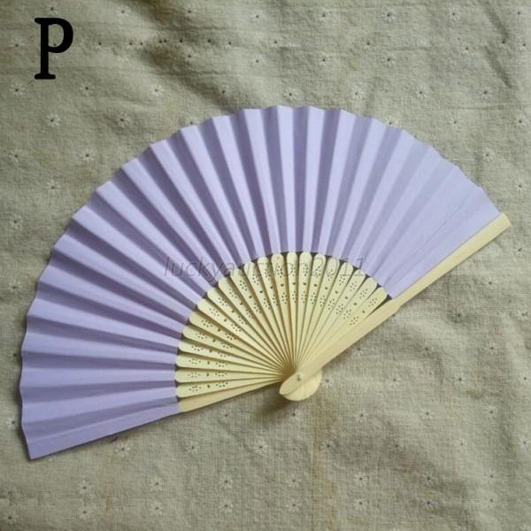 Hand Held Fans : Colors folding hand held bamboo paper fans pocket fan