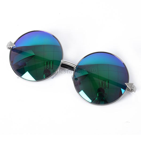Retro-Women-Oversized-Metal-Sunglasses-Classic-Round-Lens-Reflective-Glasses