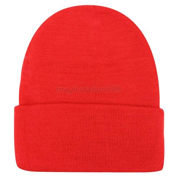 Cute Winter Warm Plain Beanie Hats Women Men Cap Slouchy Hat Knit Hat Caps M59