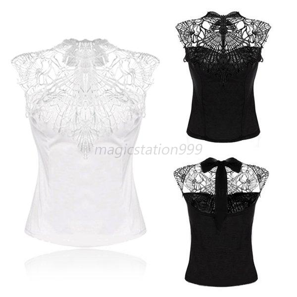 Fashion Women's Summer Vest Top Sleeveless Blouse Casual Lace Tank Tops T-Shirt
