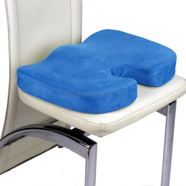 Coccyx Orthopedic Memory Foam Seat Cushion Office Chair Seat Back Pain Relief