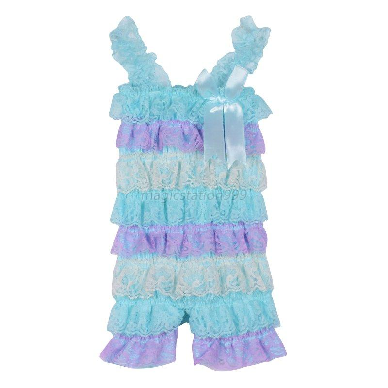 Toddler Baby Girl Ruffle Lace Rompers Sleeveless Jumpsuit Dress Pants 0-3Y | EBay