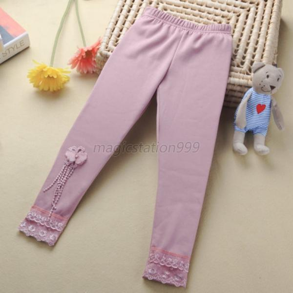 candy color kids girls tight pants stretch ballet dance leggings baby