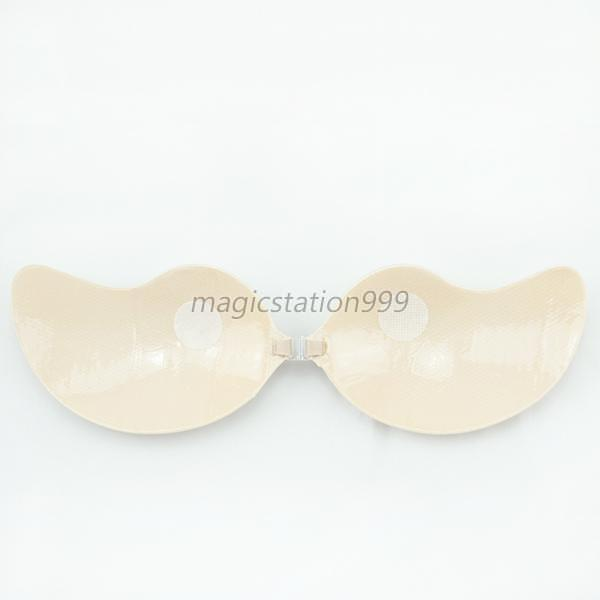 women breathable self adhesive push up bra silicone