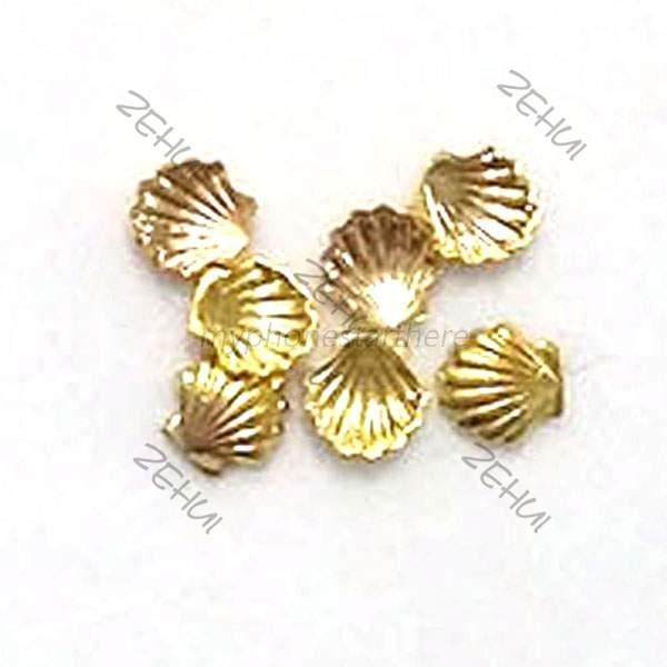 10pcs Alloy Metal Shell Seashell Beads Studs For Nail Art Phone Decor Craft M29