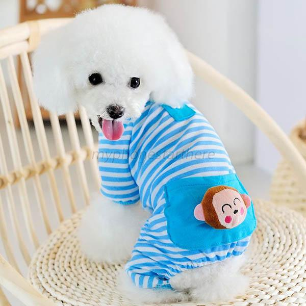 Hot Pajamas Coat Bear Clothes Apparel Clothing Small Pet Dog Stripes Cat Puppy