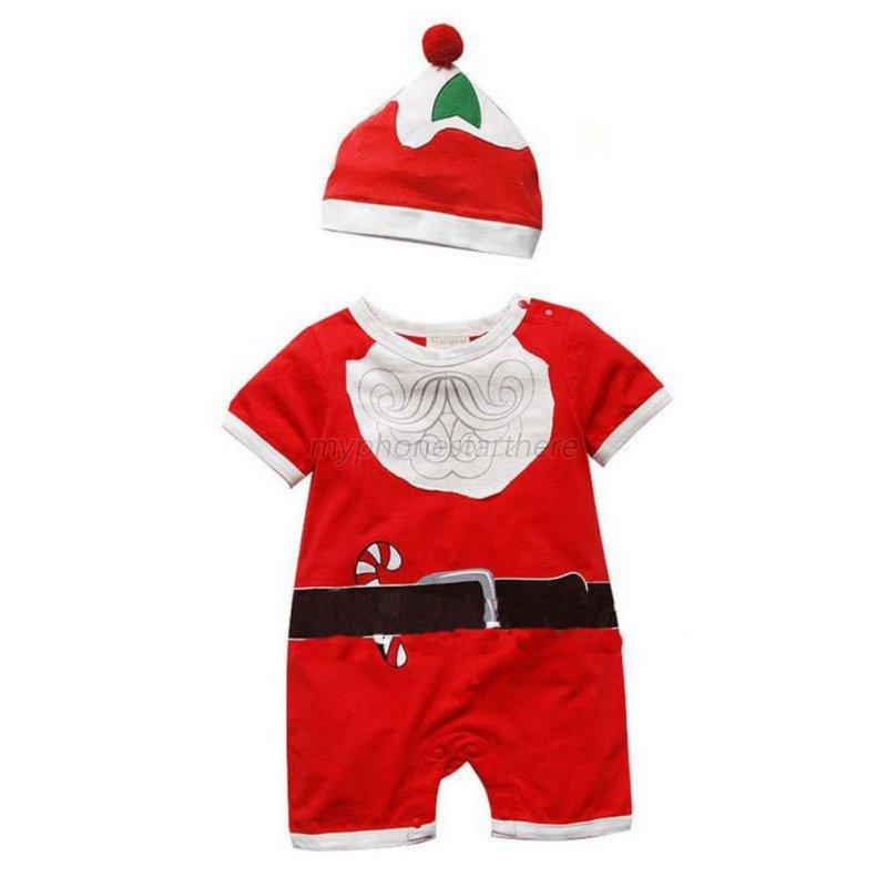 Baby kid boy girl xmas clothes rompers hat bodysuit jumpsuit outfits