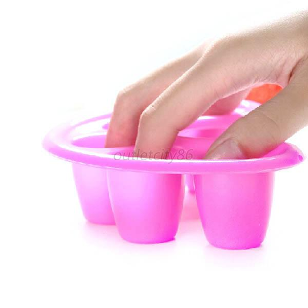 Acrylic Nail Art Tip Finger Manicure Bowl Soaker Treatment Remover Wash Tool O10